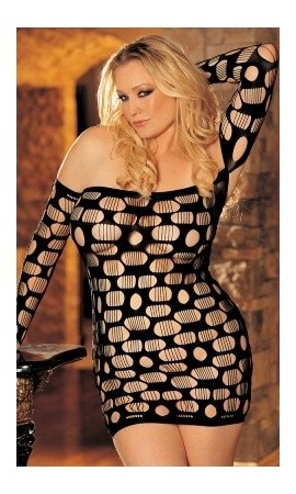 X90217 seksowna czarna mini sukienka dla puszystych