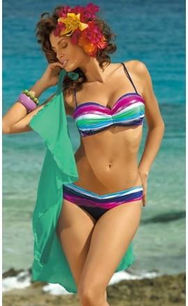 Długie pareo plażowe (D) w kolorze seledynowym