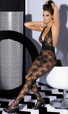 L400 koronkowe bodystocking