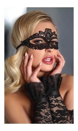 5 czarna maska na oczy koronkowa