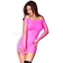 Sukienka seksowna CR-3608 mini w kolorze różowym bezszwowa