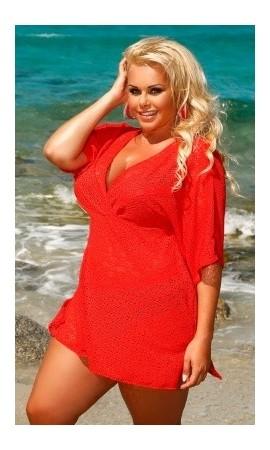 210 siateczkowa plażowa sukienka duży rozmiar