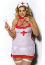 Shane tiulowa koszulka pielęgniarki dla puszystej