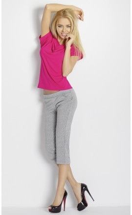 Erna dwuczęściowa piżamka z wiskozy krótki rękaw
