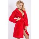 Eliza czerwony ciepły szlafrok damski