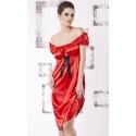 Anabel czerwona koszula satynowa duży rozmiar