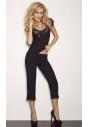 Sabi czarna dwuczęściowa piżamka z wiskozy