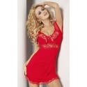 Paulina zmysłowa czerwona koszulka nocna