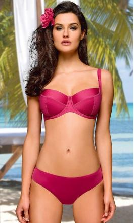 Korfu różowy strój kąpielowy dwuczęściowy