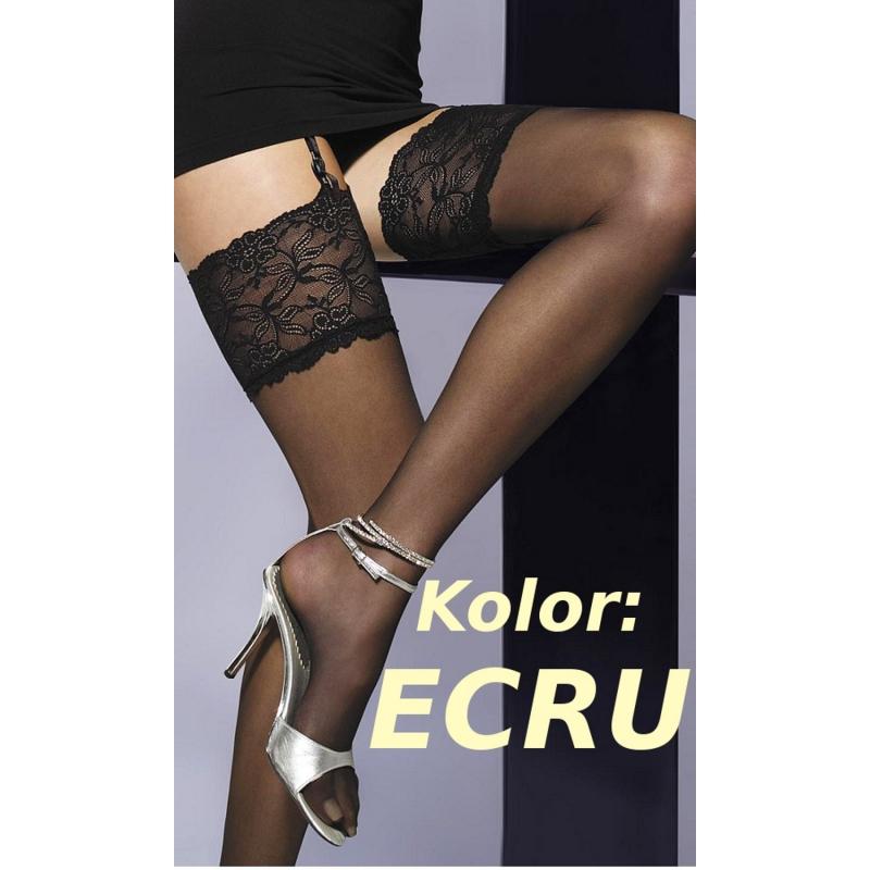 cb1a8008ba9e22 Venus pończochy do paska w kolorze ecru - Diores