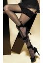 Michelle 01 pończochy samonośne czarne