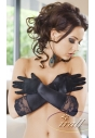Rękawiczki satynowe Irall Nora czarne