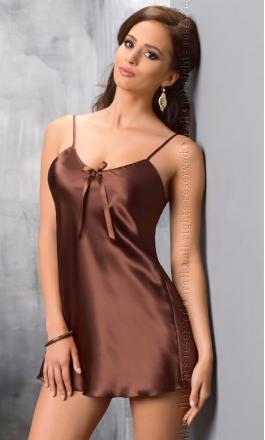 Aria koszulka nocna w kolorze czekoladowym