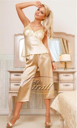 Piżama satynowa Irall Parisa beż