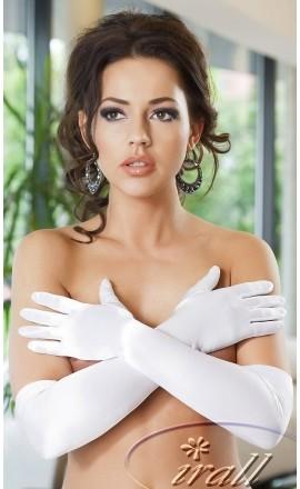Rękawiczki satynowe Astrid białe