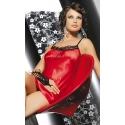 Koszulka nocna satynowa Helene czerwona rozmiar M