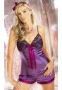 Tiffany fioletowa piżamka nocna