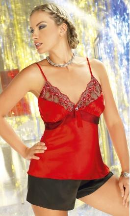 Piżama satynowa damska Irall Salome czerwona
