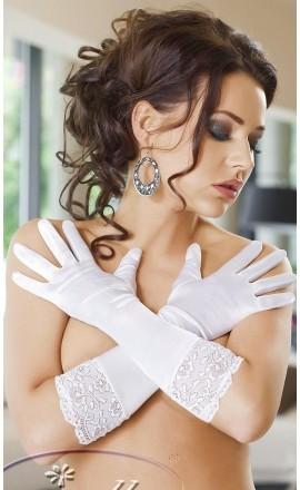 Nora eleganckie satynowe rękawiczki