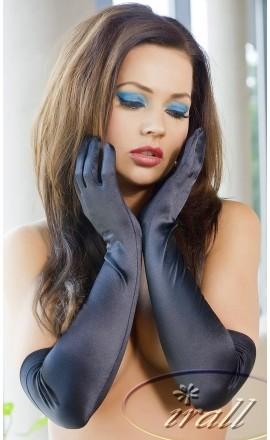 Rękawiczki satynowe Irall Astrid czarne