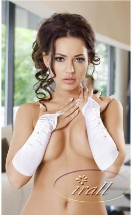 Victoria seksowne białe rękawiczki