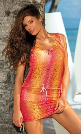 Elissa zmysłowa ażurowa tunika plażowa