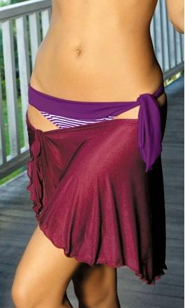 Pareo B fioletowe krótkie pareo plażowe