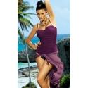 Pareo plażowe długie fiolet (D)