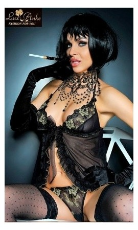 Komplet bielizny erotycznej Lux -Anke Otylia Gold