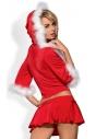 Santa Lady seksowne 3-częścoiwe przebranie mikołajki