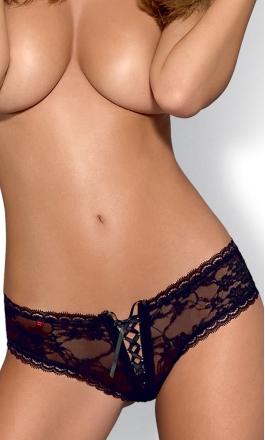 Hotina czarne szorty koronkowe