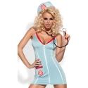 Kostium pielęgniarki w zestawie ze stetoskopem