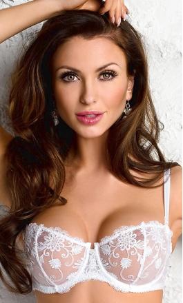 720d5ea44560c3 Pamela B-222 biały biustonosz typu balconette - Diores