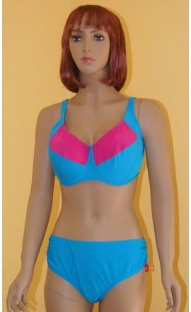 Nora niebieski dwuczęściowy kostium kąpielowy 80E
