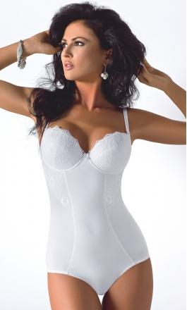 184 Livia białe body damskie modelujące