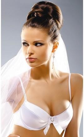 Diamond 132 satynowy biustonosz ślubny