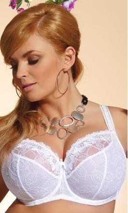 Belinda biały duży biustonosz typu soft