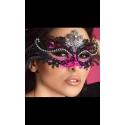 Maska na oczy z różem CR-3993 karnawałowa