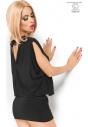 CR-3887 seksowna czarna mini sukienka
