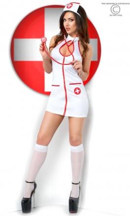 CR-3854 seksowne przebranie pielęgniarki ze stetoskopem