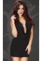 CR-3636 seksowna mini sukienka z biżuterią