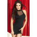 CR-3493 seksowna mała czarna sukienka - strój na sylwestra