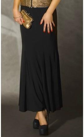 CR-3410 długa czarna spódnica