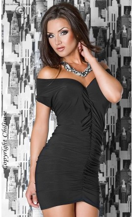 Panthera CR-3049 czarna seksowna sukienka