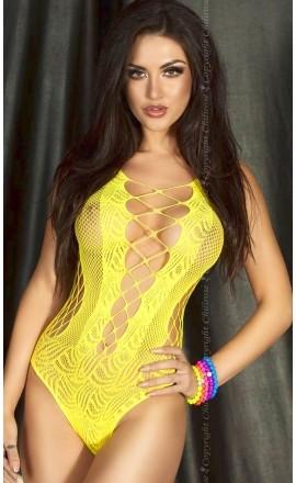 CR-3498 erotyczne body w żółtym kolorze