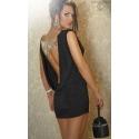 Sukienka seksowna CR-3216 bez pleców z cyrkoniami