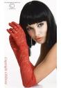 CR-3071 Gloria czerwone rękawiczki koronkowe