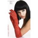 Rękawiczki koronkowe CR-3071 Gloria czerwone