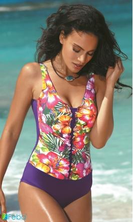 F33 strój kąpielowy jednoczęściowy w kwiaty