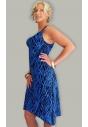 Justine niebieska sukienka z asymetrycznym dołem M/L